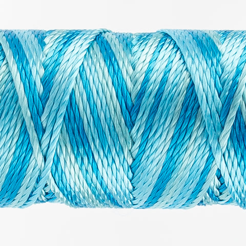 Sue Spargo's Variegated  Razzle Thread - 100% Rayon Thread - RZM05 - Little Blue Box