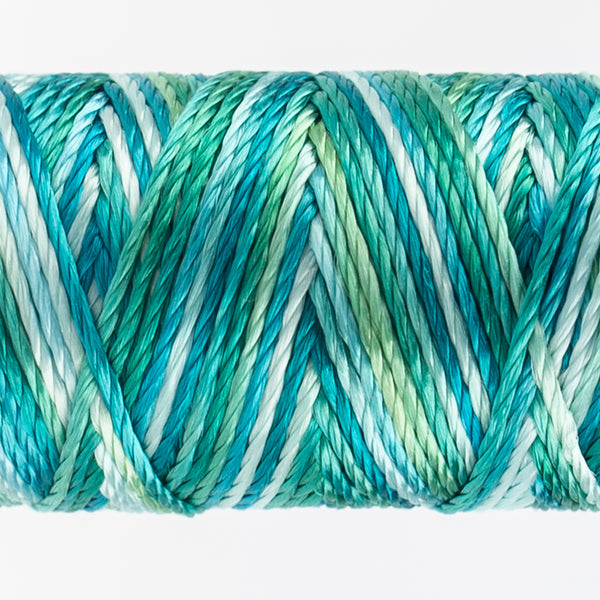 Sue Spargo's Variegated  Razzle Thread - 100% Rayon Thread - RZM06 - Tropical Teal