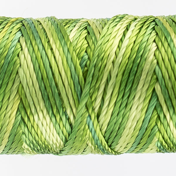 Sue Spargo's Variegated  Razzle Thread - 100% Rayon Thread - RZM07 - Leaves and Sprouts