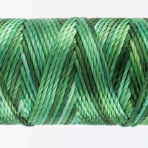 Sue Spargo's Variegated  Razzle Thread - 100% Rayon Thread - RZM08 - Hint of Mint