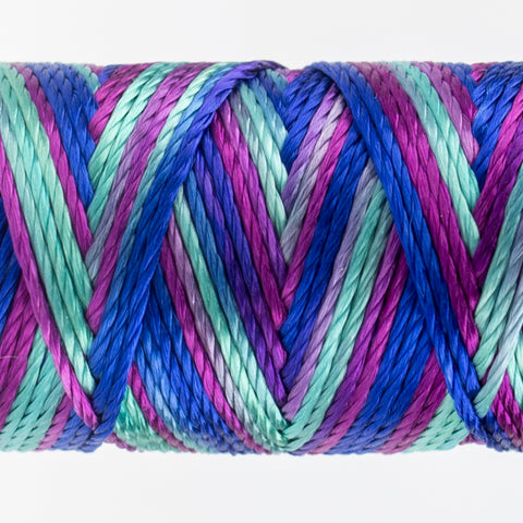 Sue Spargo's Variegated  Razzle Thread - 100% Rayon Thread - RZM13 -Island Living