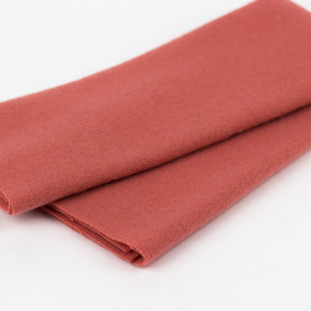Sue Spargo Wool Fabric - Salmon - Fat 1/8th
