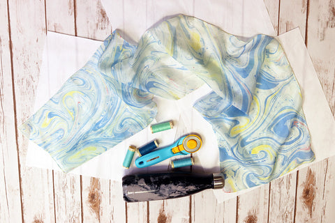 The Sunday Sessions - Hand Dyed Silk Scarf - October 21