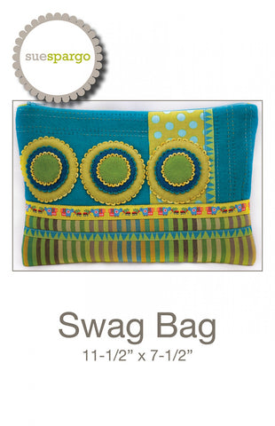 Swag Bag Pattern - Wool Felt Applique - Sue Spargo