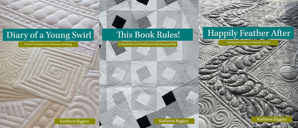 3 Book Bundle - This Book Rules - Diary of a Young Swirl - Happily Feather After - Kathleen Quilts