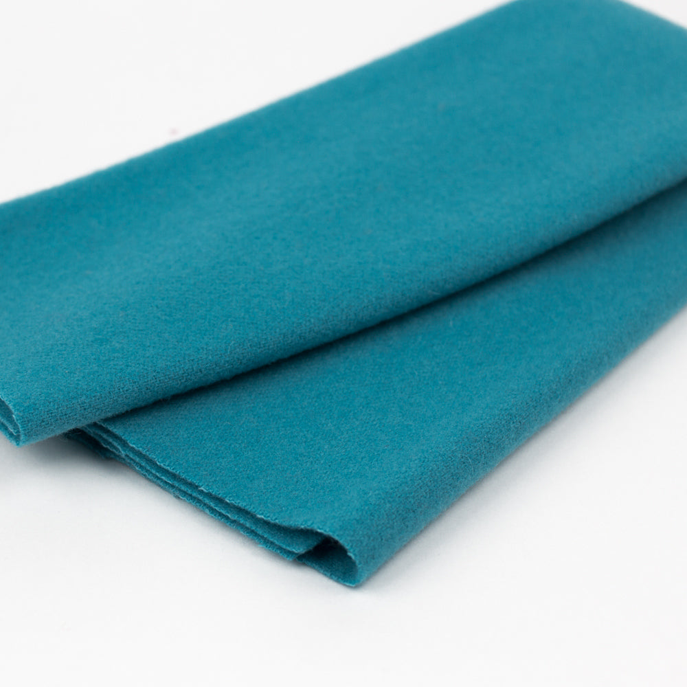 Sue Spargo Wool Fabric - Turquoise - Fat 1/8th