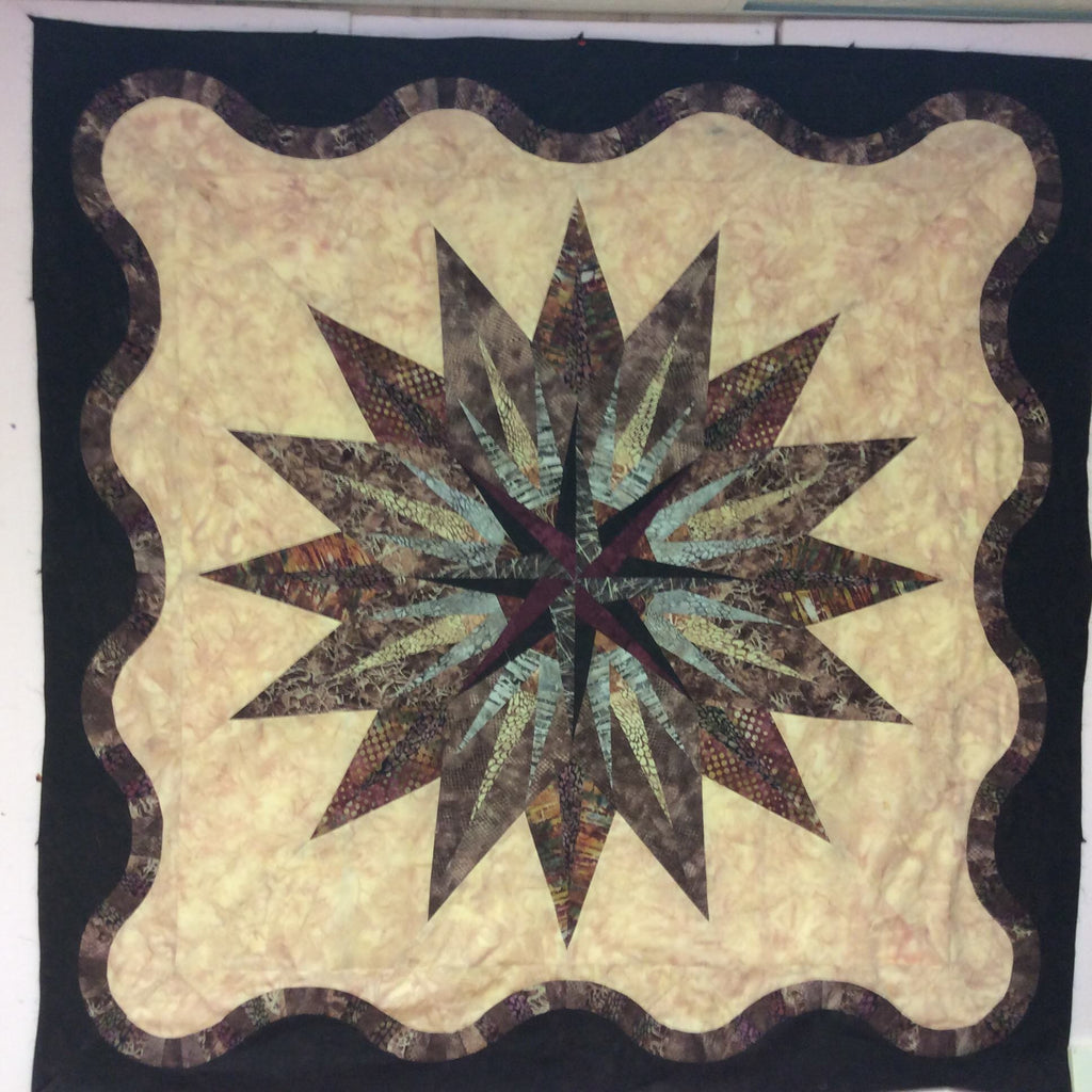 Vintage Compass Quilt Kit - Brown