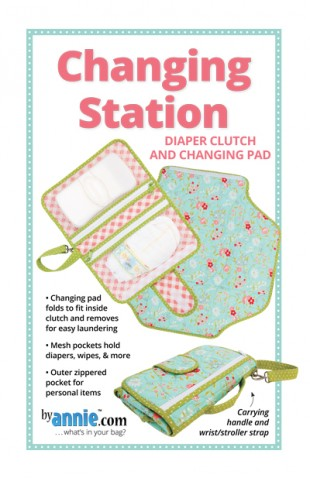 Changing Station Diaper Clutch and Changing Pad - Bag Pattern - By Annie