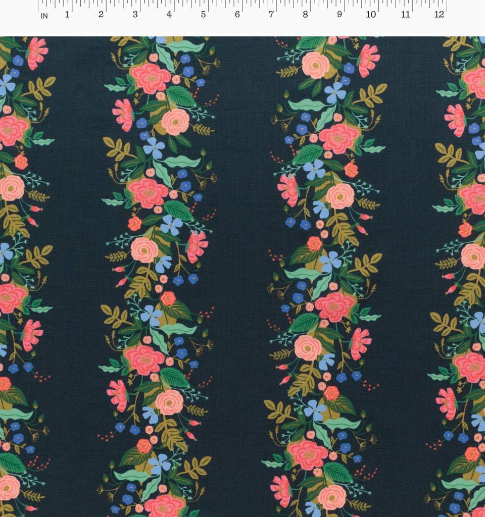 Rifle Paper Co.'s English Garden - Floral Vines Navy