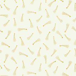 Cotton and Steel's Mystical - Elena Essex - Shooting Stars Ivory Metallic