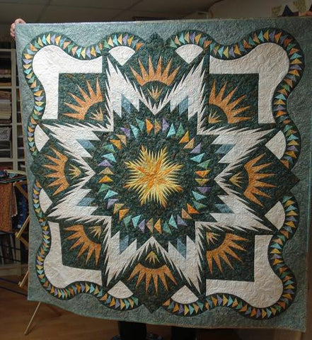 Glacier Star Quilt Kit - Grey