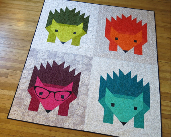 Hazel Hedgehog II Quilt and Pillow Pattern