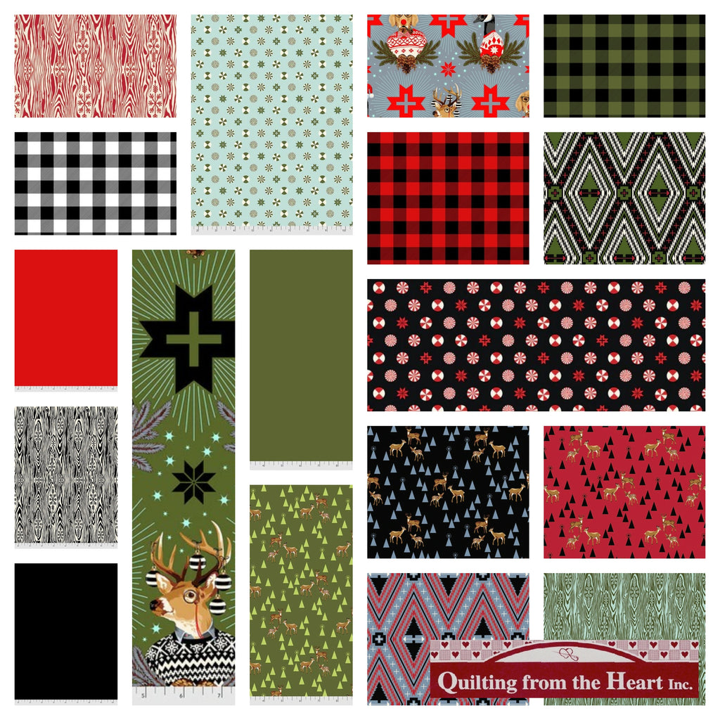 Tula Pink's Holiday Homies Flannel  - 19 Fabric Bundle - Special PreOrder Pricing - Ships July/August 2021