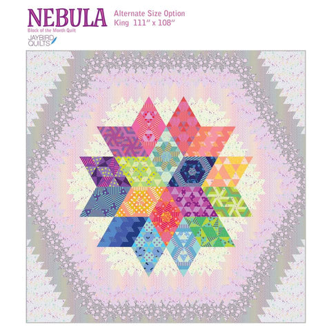 Nebula Block of the Month King Expansion - Tula Pink and Jaybird Quilts