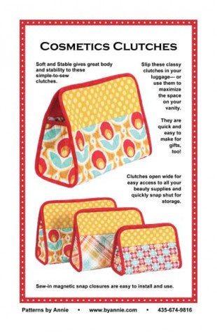 Cosmetic Clutches - Bag Pattern - By Annie