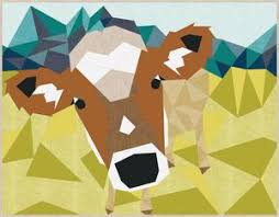 Cow Abstractions Quilt by Violet Craft