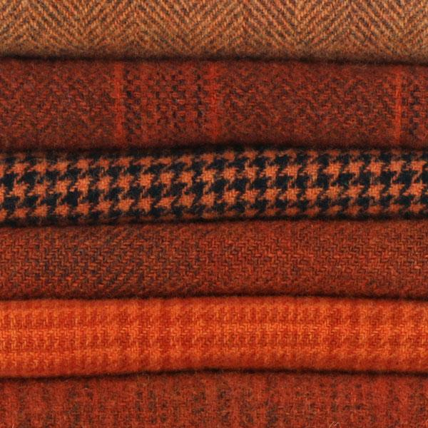 Sue Spargo Textural Wool Bundle -- Pumpkin