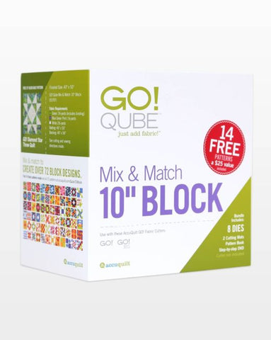 "AccuQuilt Go Qube 10"" Mix and Match Block"