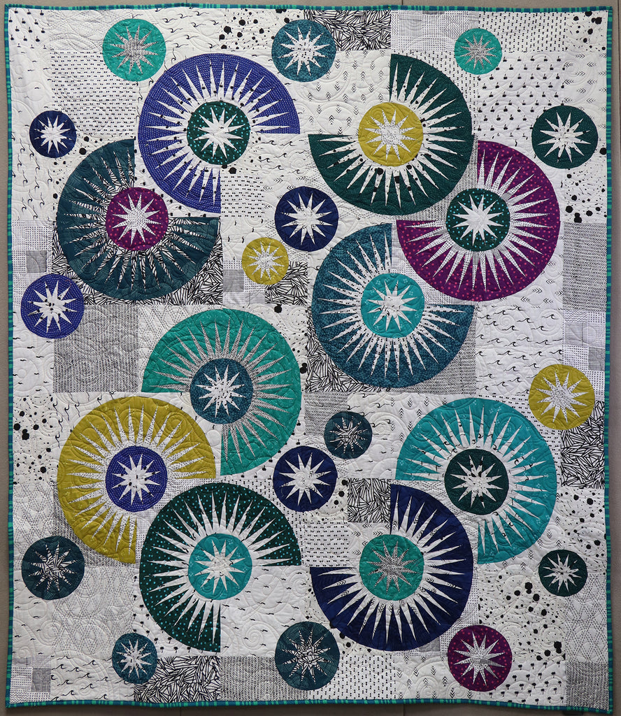 Raindrops Quilt Kit - Me and You Indah Batik's - Quiltworx.com