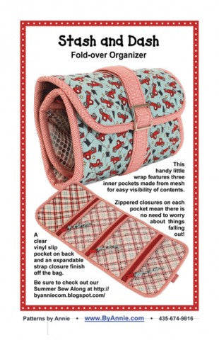 Stash and Dash - Fold Over Organizer - Bag Pattern - By Annie