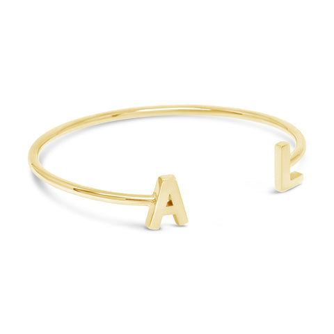 The Double Initial Cuff