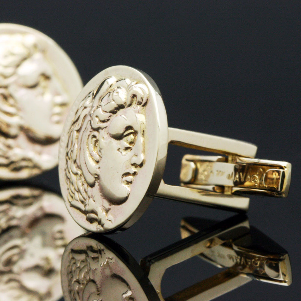 The Gold Alexander Cufflinks