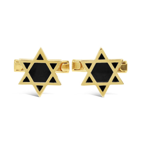 The Golden Star of David Cufflinks