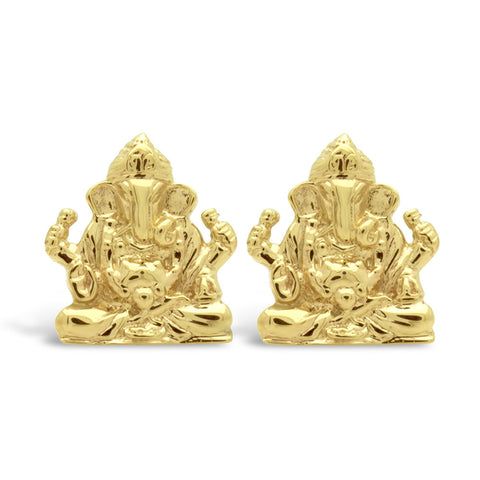 The Golden Ganesha Cufflinks