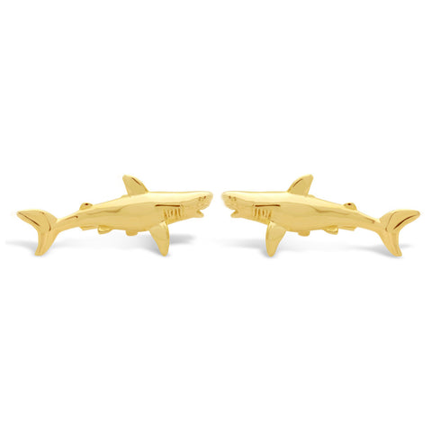 The Gleaming Shark Cufflinks