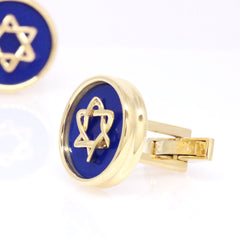The Yellow Star of David Cufflinks