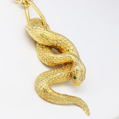 The Emerald Snake Pendant