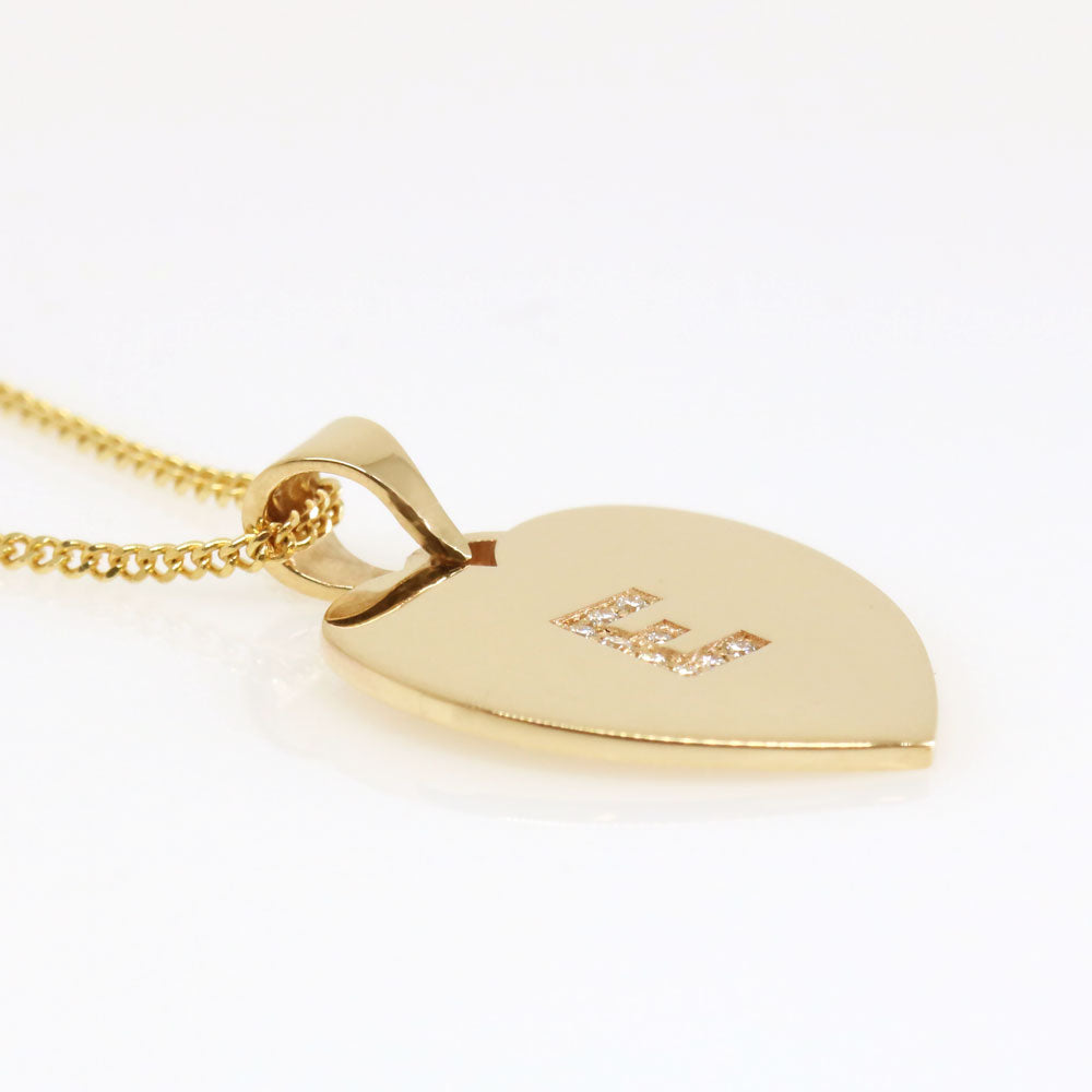 The Initial Heart Pendant