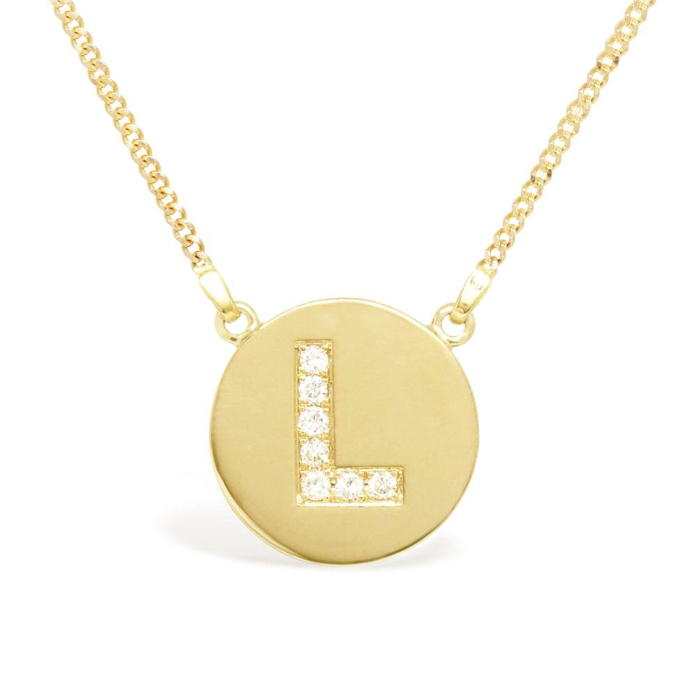 The Initial Disc Necklace
