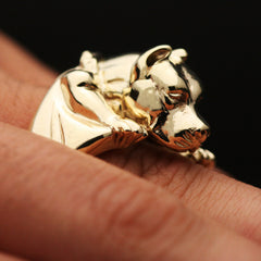The Gold Jumping Pitbull Ring