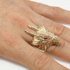 The Crimson Draco Ring
