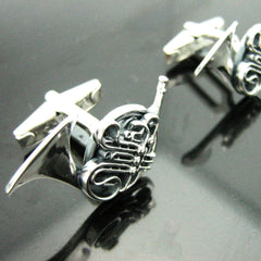 The Musical French Horn Cufflinks