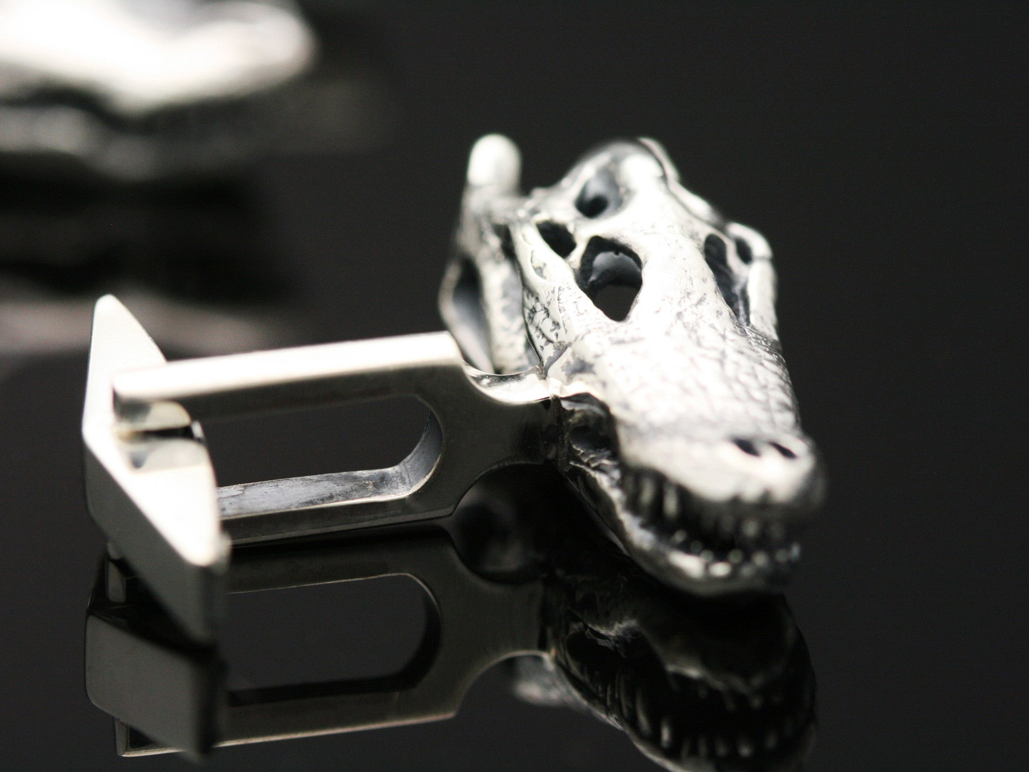 The Crocodile Skull Cufflinks