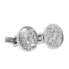 The Great Alexander Coin Cufflinks
