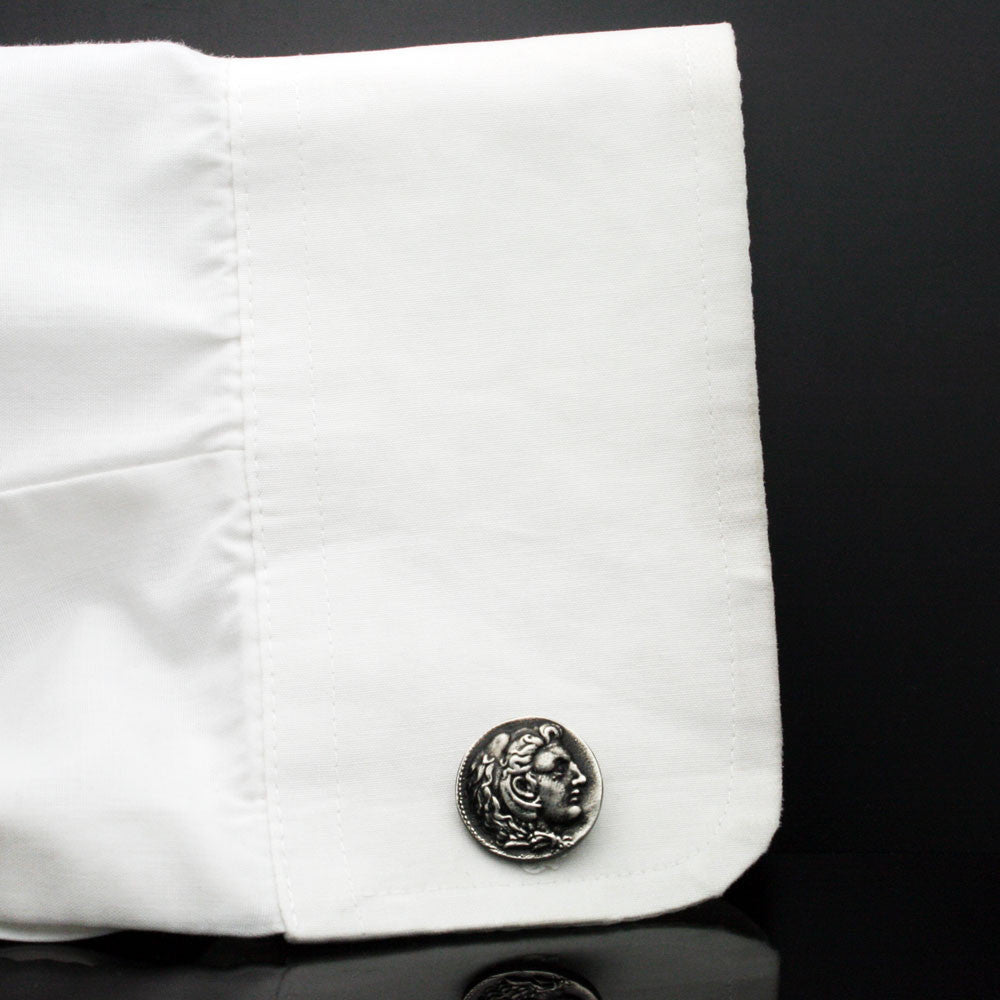 The Dark Alexander Coin Cufflinks