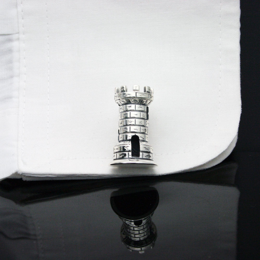 The Chess Rook Cufflinks