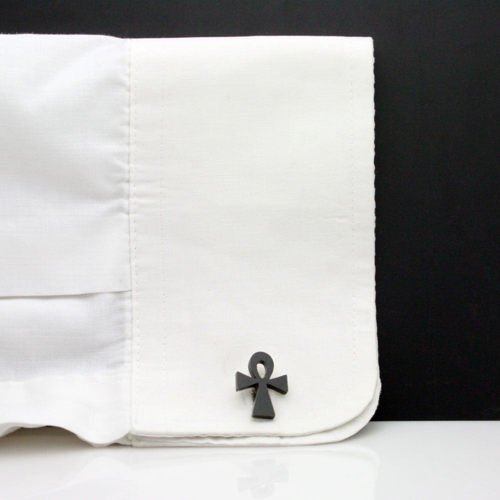 The Black Ankh Cufflinks