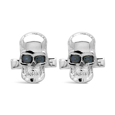 The Azure Skull Cufflinks