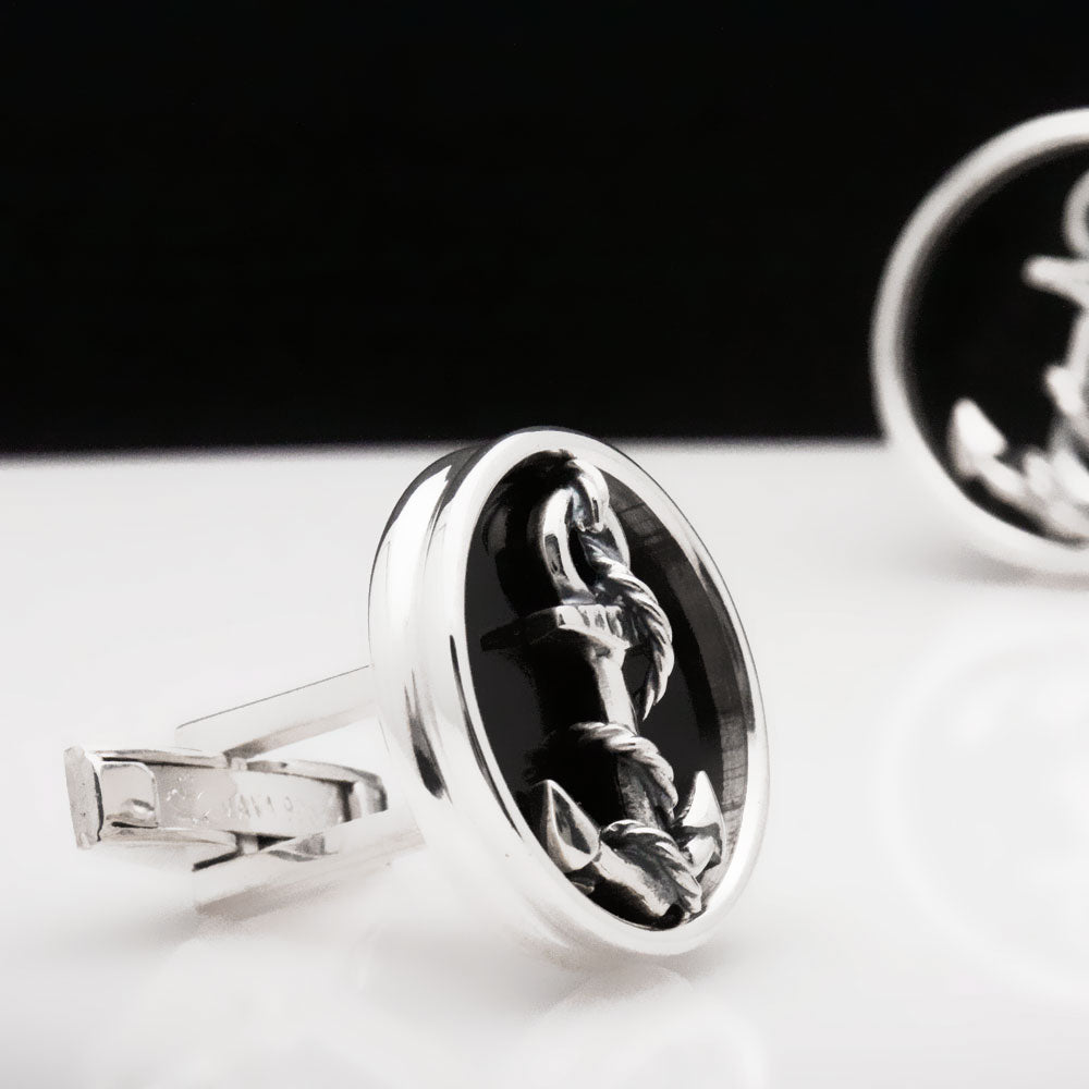 Anchor & Rope Cufflinks
