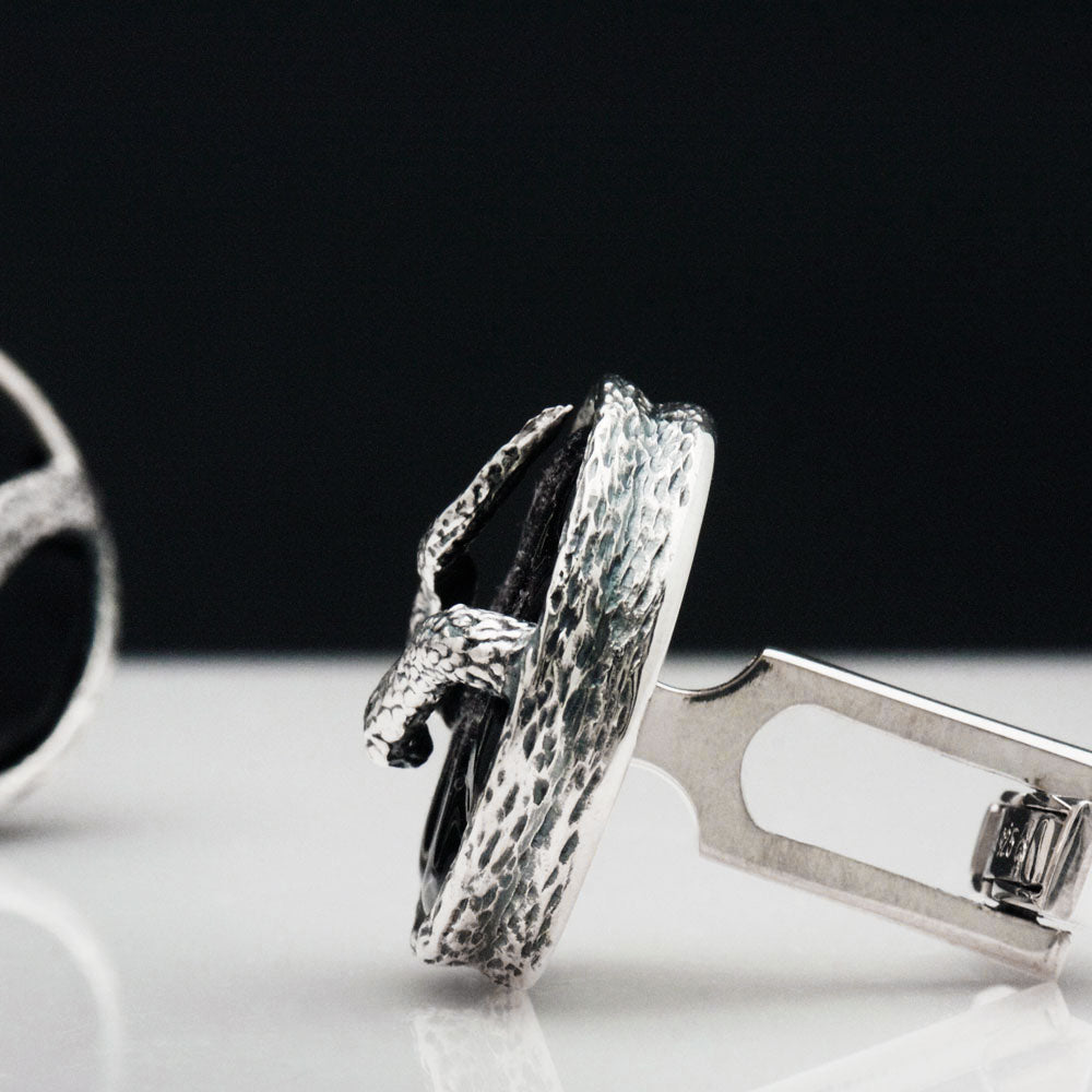 The Tenebrous Snake Cufflinks