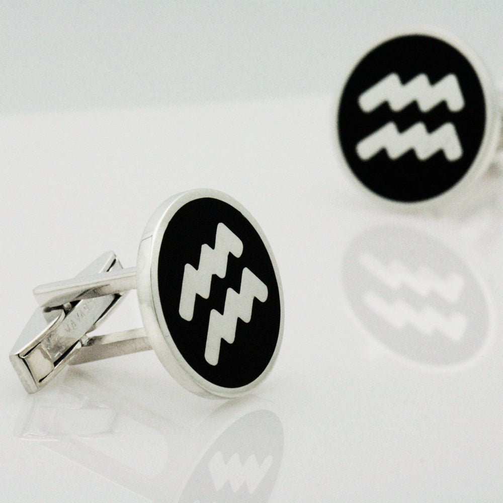The Aquarius Circle Cufflinks