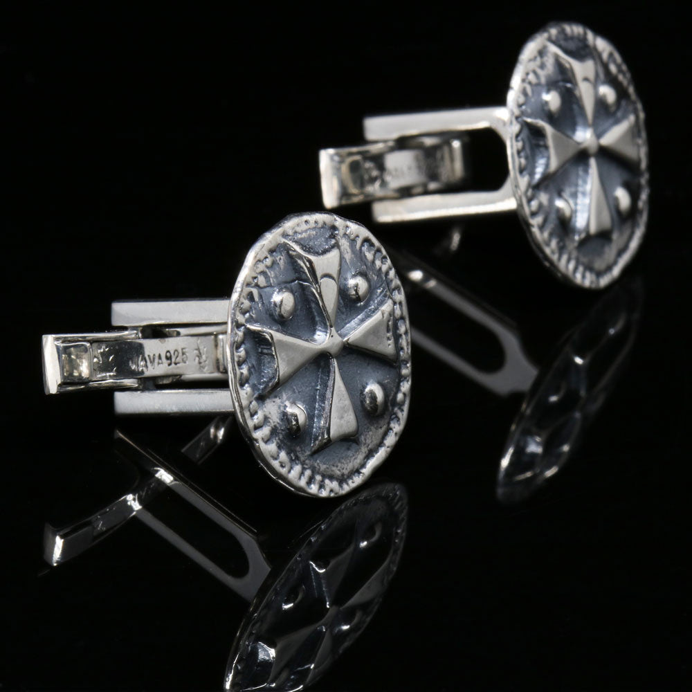 The Medieval Shield Cross Cufflinks