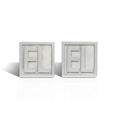 The Carré Initial Cufflinks