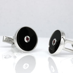 The Ruby Disc Cufflinks