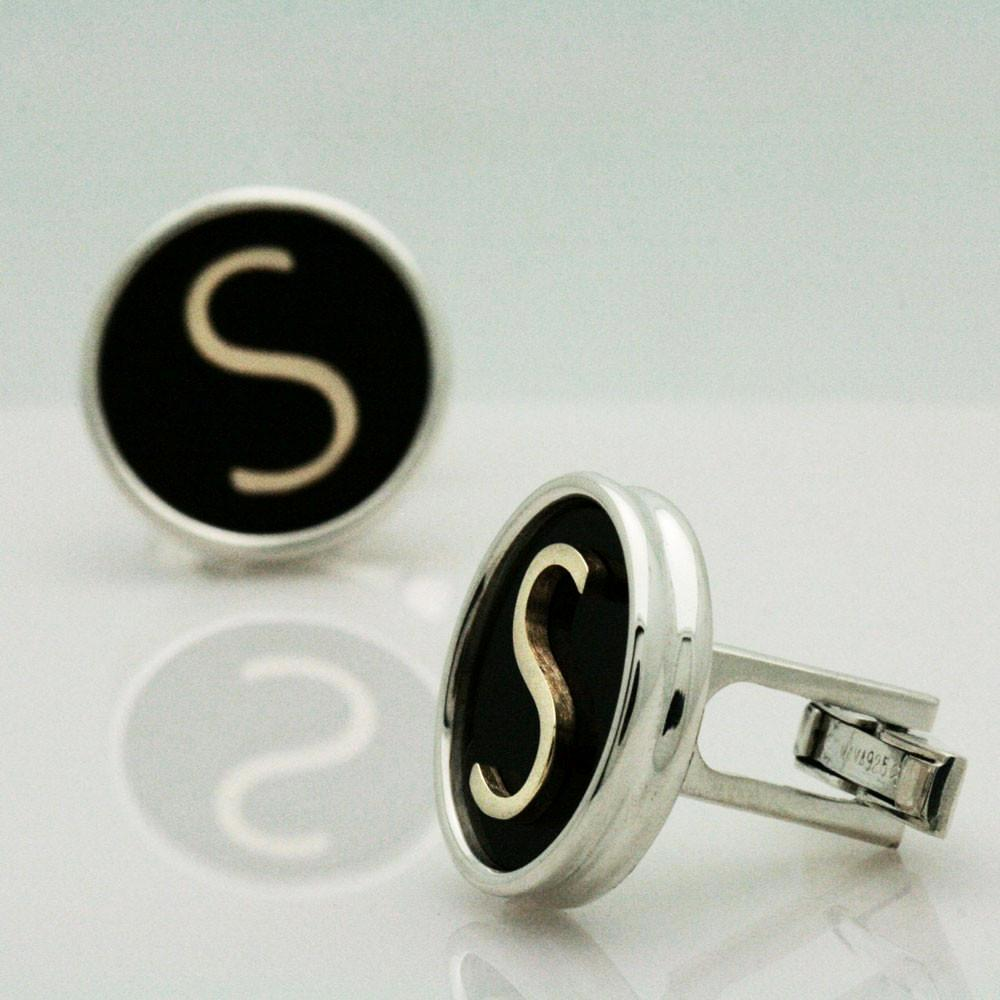 The Gold Initial Cufflinks