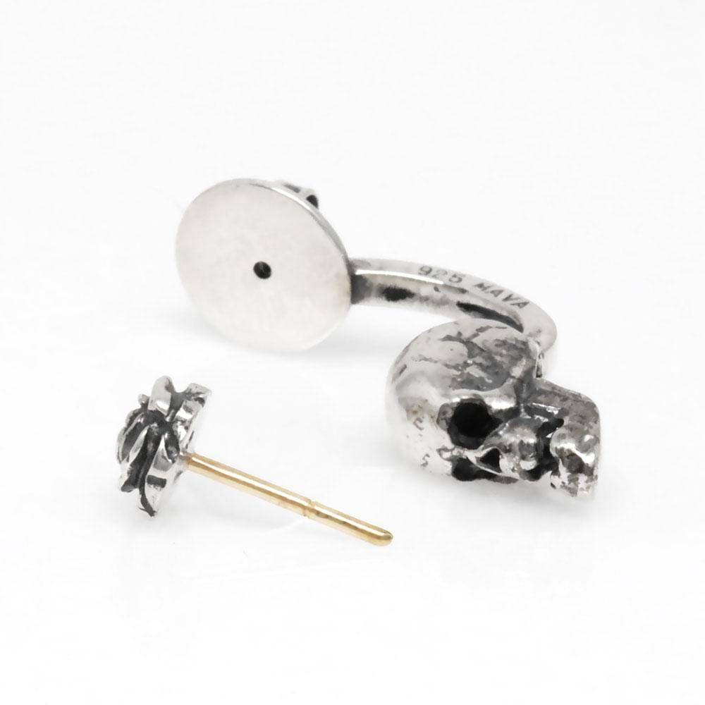 The Skull and Rose Earrings